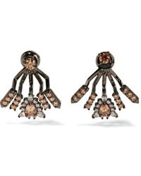 Noir Jewelry - - Windsor Gunmetal-tone Cubic Zirconia Earrings - Lyst
