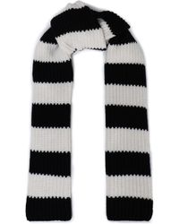 RED Valentino - Striped Wool And Cashmere-blend Knit Scarf - Lyst