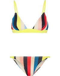 Solid & Striped - The Morgan Striped Triangle Bikini - Lyst