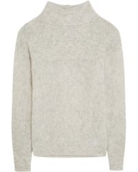 FRAME - Le Open Mix Stitch Knitted Jumper - Lyst