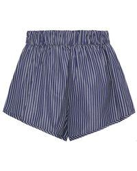 Stella McCartney - Pinstriped Cotton Shorts - Lyst