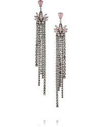 Erickson Beamon   Lady Of Lake Oxidized Gunmetal-tone Swarovski Crystal Earrings   Lyst