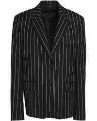 Jil Sander - Pinstriped Wool-blend Twill Blazer - Lyst