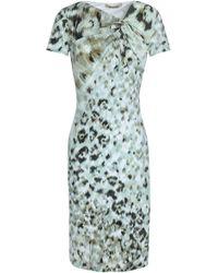 Roberto Cavalli - Gathered Printed Stretch-jersey Dress - Lyst