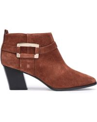 Roger Vivier - Woman Suede Ankle Boots Brown - Lyst