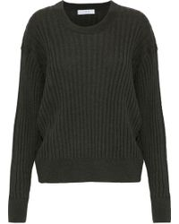 IRO - Woman Ribbed Wool Jumper Forest Green - Lyst