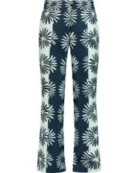 Issa - Marion Printed Silk-twill Straight-leg Pants - Lyst