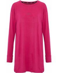 DKNY - Stretch Modal-jersey Nightdress Bright Pink - Lyst