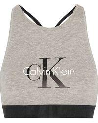 CALVIN KLEIN 205W39NYC - Retro Stretch-cotton Soft-cup Bra - Lyst