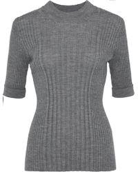 Maison Margiela - Mélange Ribbed Wool Sweater - Lyst