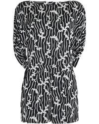 Diane von Furstenberg - Soleil Slit-back Printed Stretch-jersey Playsuit - Lyst
