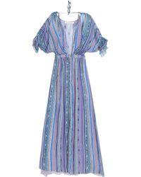 Matthew Williamson - Ruffle-trimmed Printed Silk-chiffon Maxi Dress - Lyst