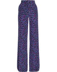Vanessa Seward - Leopard-print Silk Wide-leg Pants - Lyst