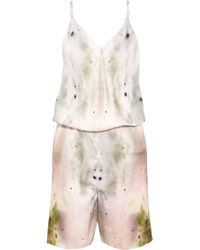 Maria Grachvogel - Eden Printed Silk Playsuit - Lyst