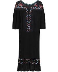 199d9c5e0aa8 Antik Batik - Woman Odelia Embroidered Mesh-paneled Crinkled-voile Dress  Black - Lyst