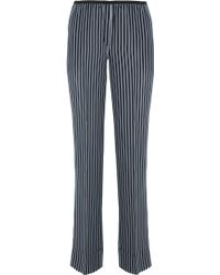 Theory | Pajeema Striped Silk Straight-leg Trousers | Lyst