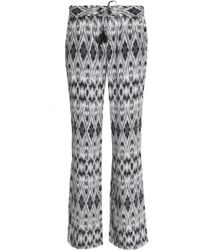 Joie - Printed Silk Crepe De Chine Bootcut Pants - Lyst