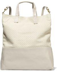 Clare V. - Matilde Paneled Leather Backpack - Lyst