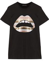 Markus Lupfer - Kate Sequin-embellished Jersey T-shirt - Lyst