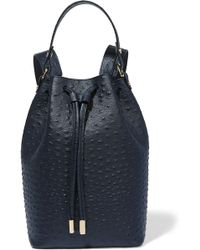 Iris & Ink | Ostrich-effect Leather Backpack | Lyst