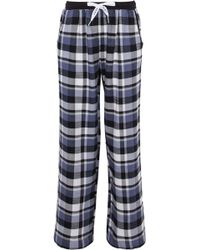 DKNY - Checked Flannel Pyjama Trousers - Lyst