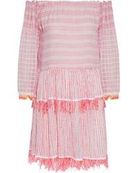 lemlem - Anan Off-the-shoulder Striped Cotton-blend Gauze Dress - Lyst