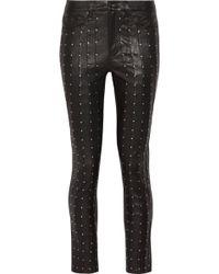 Rag & Bone - Hyde Studded Stretch-leather Skinny Pants - Lyst