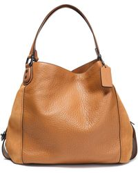 COACH - Paneled Leather And Suede Tote - Lyst