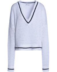 Amanda Wakeley - Scale Open-knit Cotton Sweater - Lyst