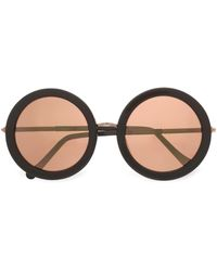 Sunday Somewhere - Woman Isabella Round-frame Acetate And Rose Gold-tone Sunglasses Rose Gold - Lyst