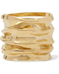 Annelise Michelson - Draped Gold-plated Cuff - Lyst