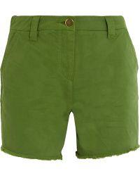 Topshop Unique - Badgemore Cotton-drill Shorts - Lyst