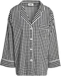 Sleepy Jones - Gingham Seersucker Cotton Pyjama Top - Lyst