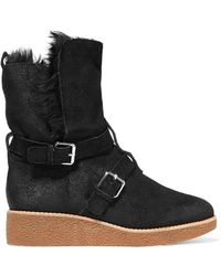 Rebecca Minkoff - Perry Buckled Suede Boots - Lyst