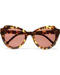 Preen By Thornton Bregazzi - Knightsbridge D-frame Acetate Sunglasses - Lyst