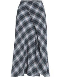 Vince - Wrap-effect Checked Silk Crepe De Chine Midi Skirt - Lyst