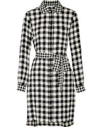 Diane von Furstenberg - Prita Gingham Silk-blend Shirt Dress - Lyst