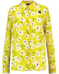 Rochas | Printed Silk Shirt Bright Yellow | Lyst