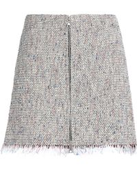 Theory - Frayed Cotton-blend Tweed Mini Skirt - Lyst