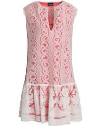 Just Cavalli - Ruffled Cotton-blend Jacquard Mini Dress - Lyst