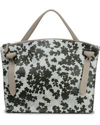 Jil Sander - Floral-print Leather Tote - Lyst