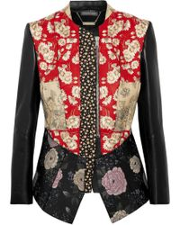 Alexander McQueen - Patchwork Embroidered Printed Leather And Neoprene Jacket - Lyst