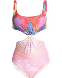 Mara Hoffman | Cutout Printed Swimsuit | Lyst