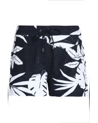 Orlebar Brown - Printed Cotton-terry Shorts - Lyst