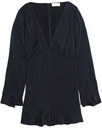 Zimmermann - Ruffle-trimmed Washed-silk Playsuit - Lyst