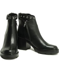 Sigerson Morrison - Buckle-embellished Leather Ankle Boots - Lyst