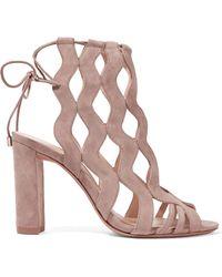 Alexandre Birman - Loretta Cutout Suede Sandals - Lyst