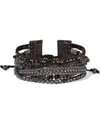 Chan Luu - Sterling Silver Beaded Leather Bracelet - Lyst