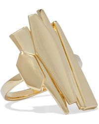 Noir Jewelry - Woman Adaptation 14-karat Gold-plated Ring Gold Size 7 - Lyst