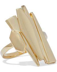 Noir Jewelry - Woman Adaptation 14-karat Gold-plated Ring Gold - Lyst